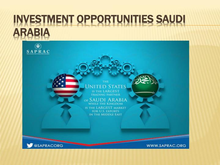 Investment opportunities Saudi Arabia