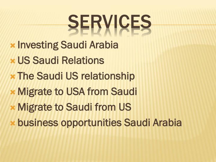 Investing Saudi Arabia