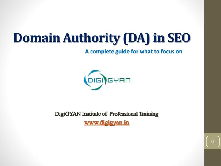 Domain authority da in seo