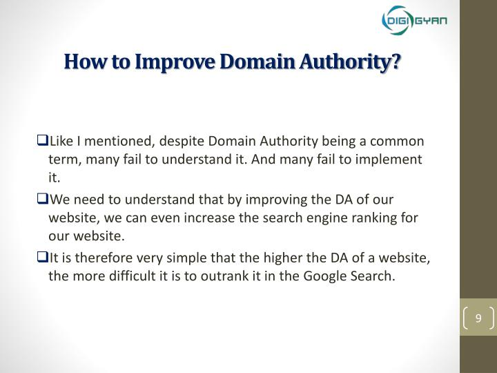 How to Improve Domain Authority?