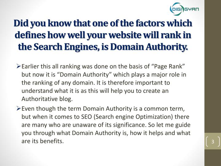 Did you know that one of the factors which defines how well your website will rank in the Search Eng...
