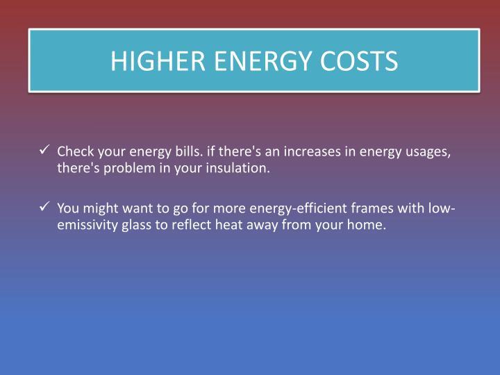 HIGHER ENERGY COSTS