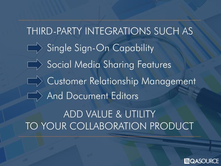 THIRD-PARTY INTEGRATIONS SUCH AS