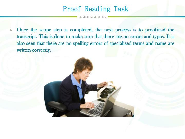 Proof Reading Task