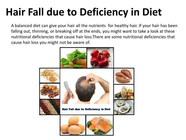 Hair Fall due to Deficiency in Diet