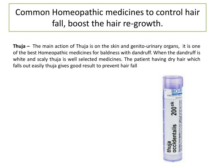 Common Homeopathic medicines to control hair