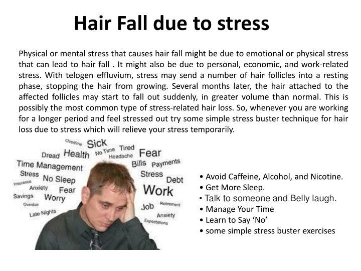 Hair Fall due to stress