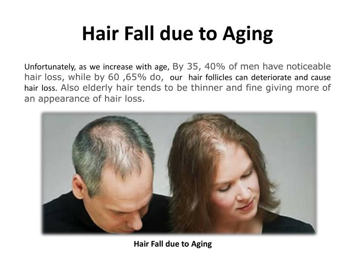 Hair Fall due to Aging