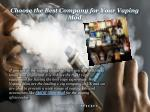 choose the best company for your vaping mod