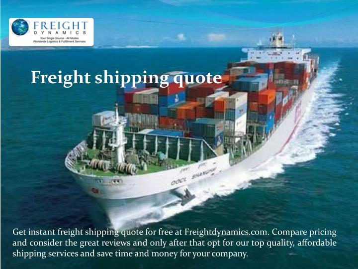 Freight shipping quote