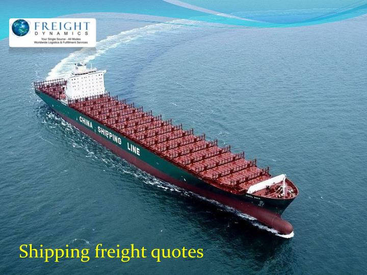 Shipping freight quotes