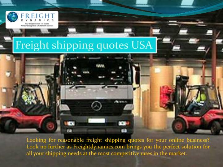 Freight shipping quotes USA