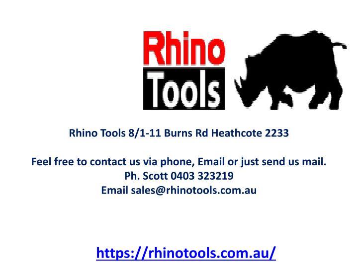 Rhino Tools 8/1-11 Burns Rd