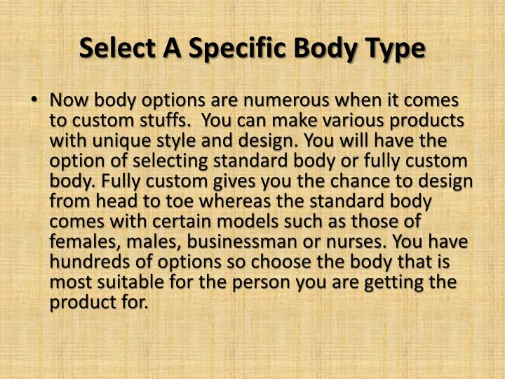Select A Specific Body Type