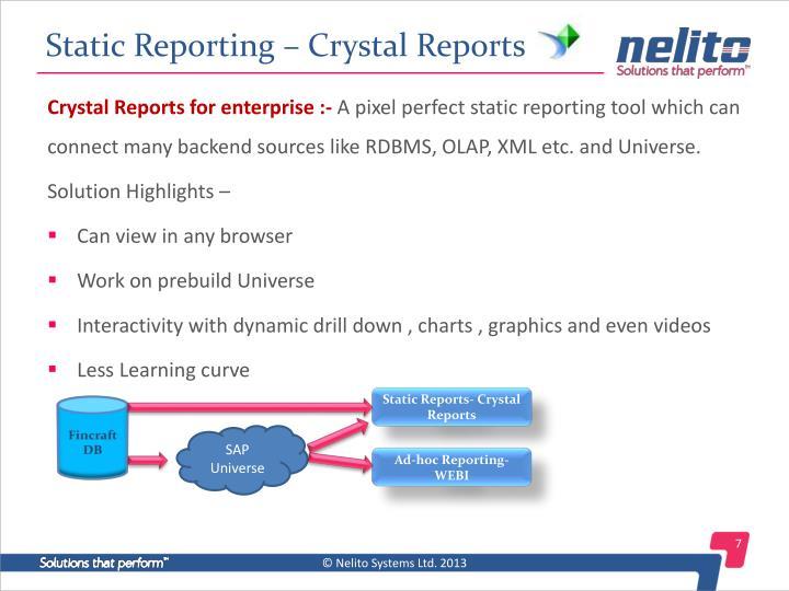 Static Reporting