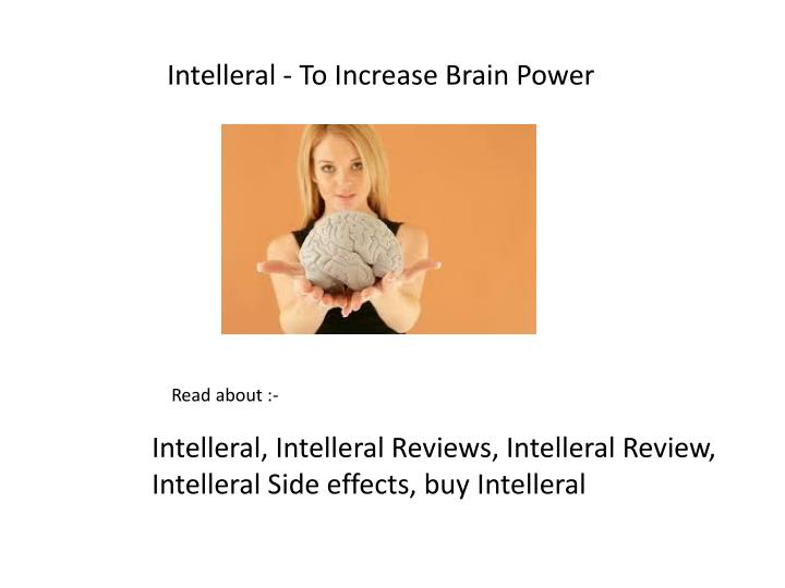 Intelleral - To Increase Brain Power