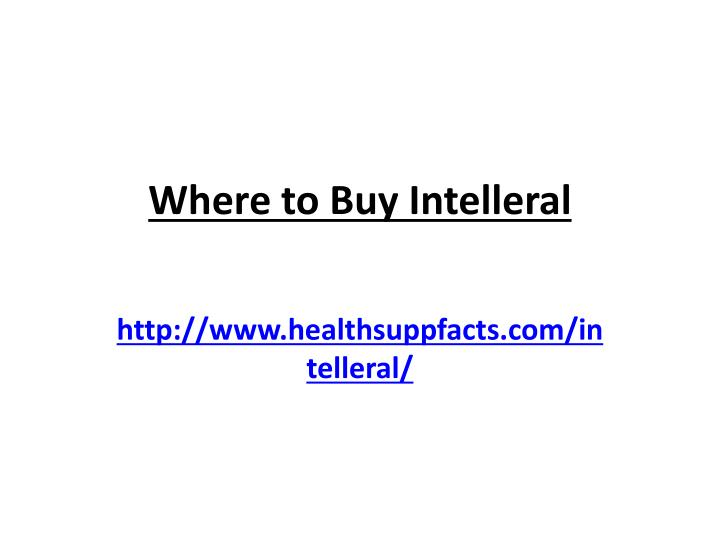 Where to Buy Intelleral