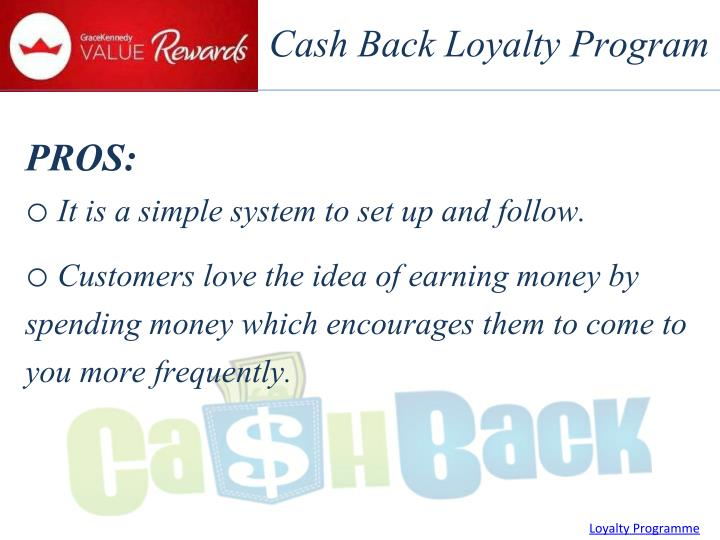 Cash Back Loyalty Program