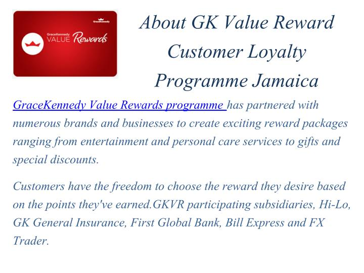 About GK Value Reward
