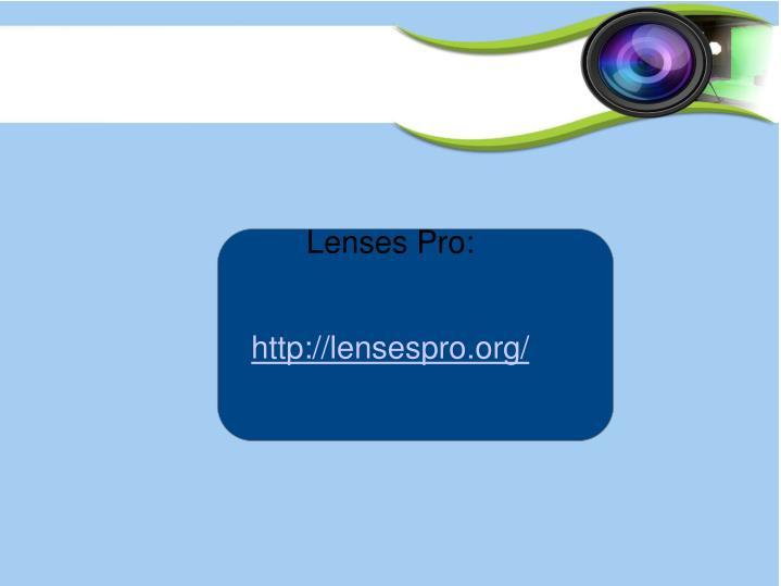 Lenses Pro: