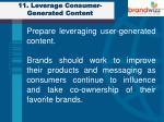 11 leverage consumer generated content