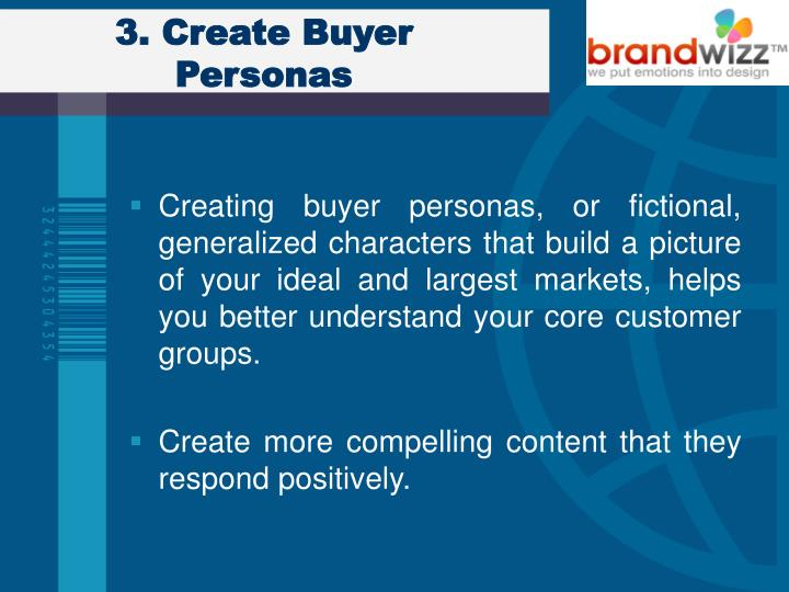 3. Create Buyer Personas