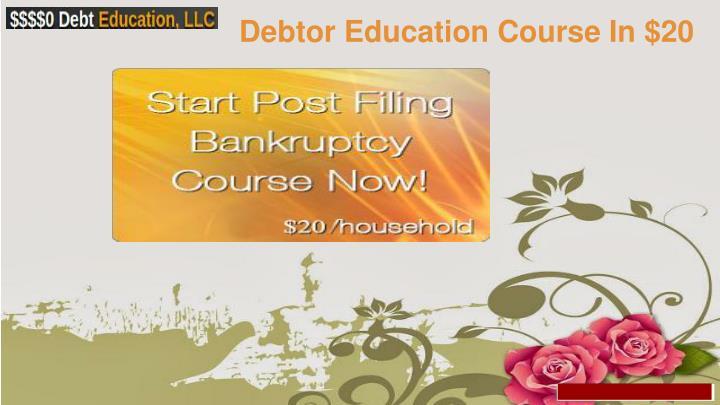 Debtor Education Course In $20
