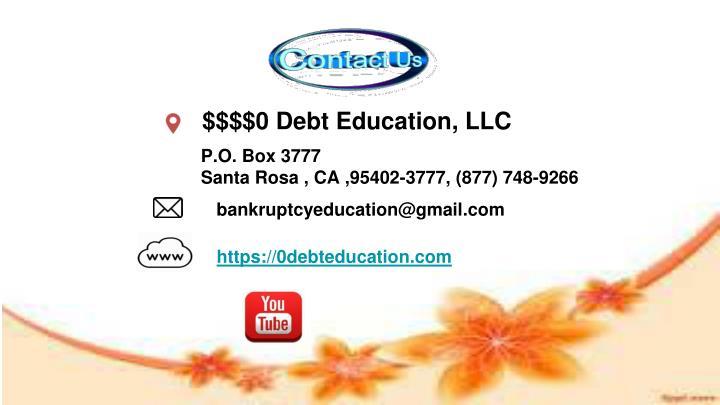 $$$$0 Debt Education, LLC