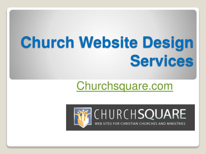 Church website design services