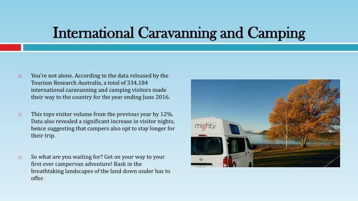International caravanning and camping