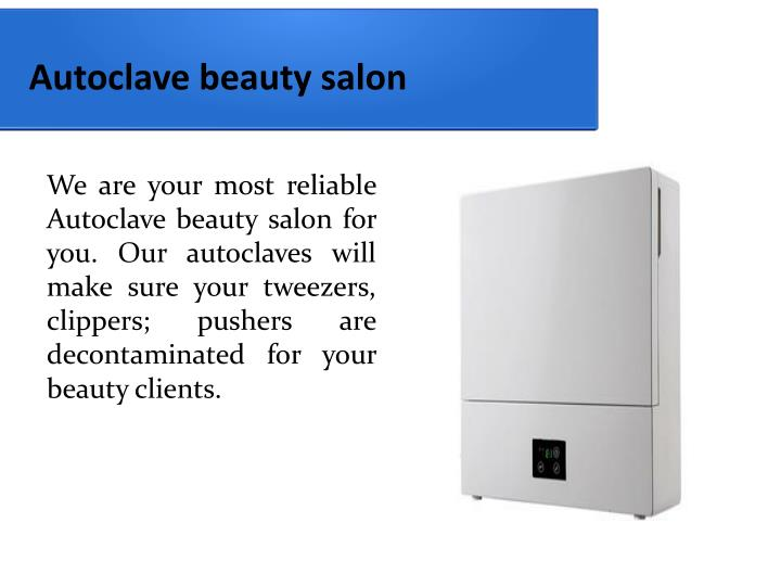 Autoclave beauty salon