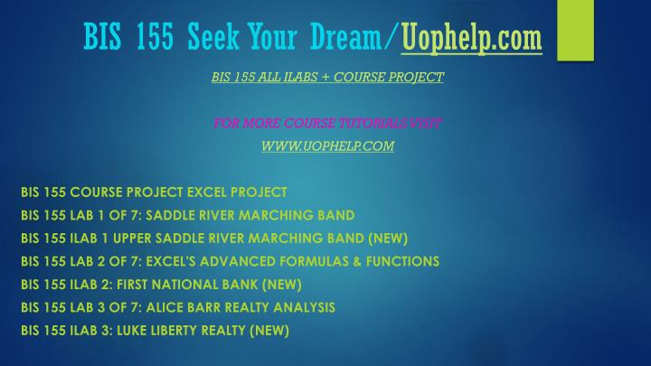 Bis 155 seek your dream uophelp com2