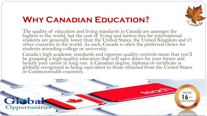 Why Canadian Education?