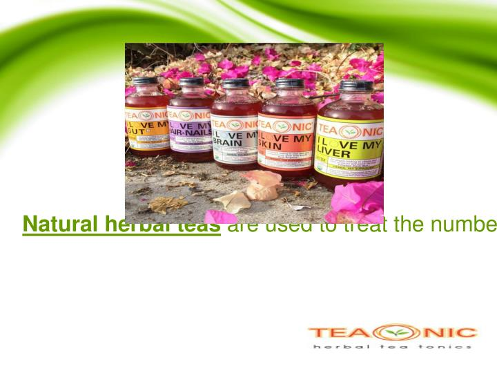 Natural herbal teas