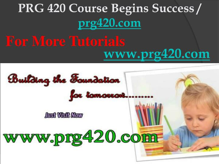 Prg 420 course begins success prg420 com