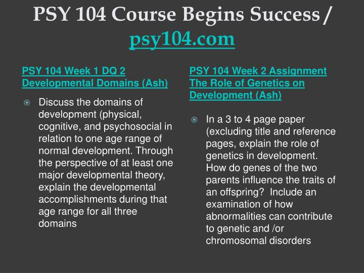 Psy 104 course begins success psy104 com2