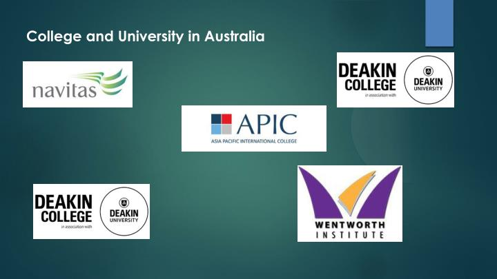College and University in Australia