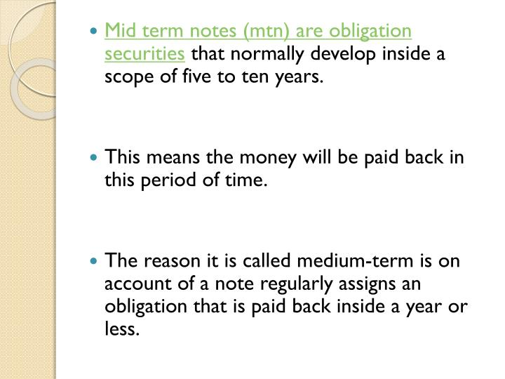 Mid term notes (