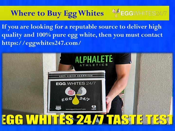 Where to Buy Egg Whites