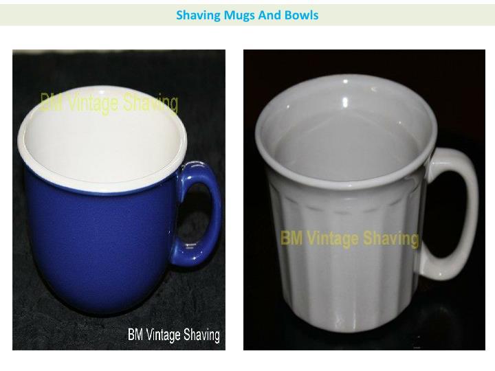Shaving Mugs And Bowls