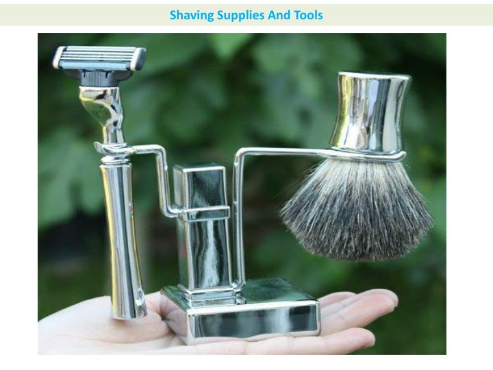 Shaving Supplies And Tools