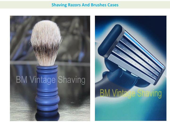Shaving Razors And Brushes Cases