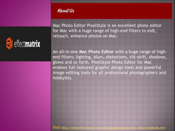 Mac Photo Editor