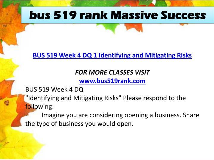 bus 519 rank Massive