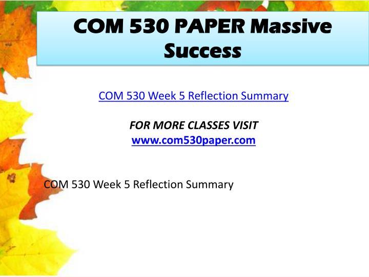 COM 530 PAPER Massive