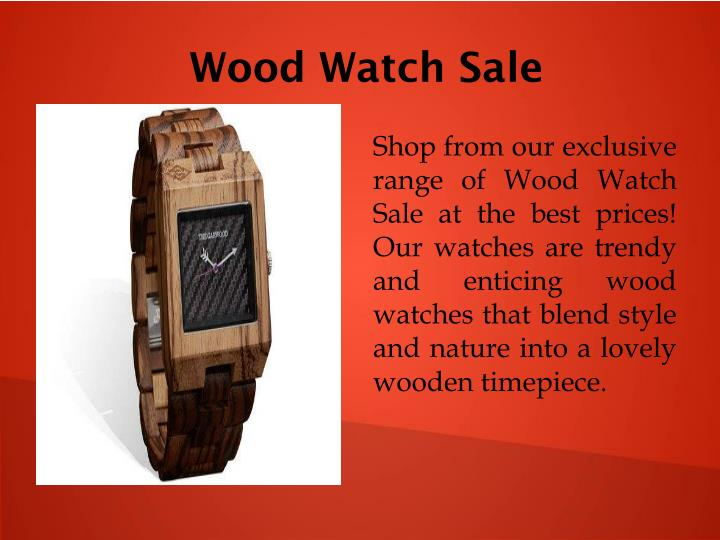 Wood Watch Sale