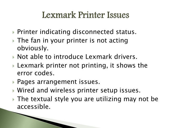 Lexmark Printer Issues
