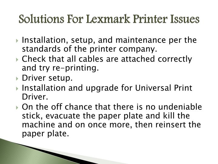 Solutions For Lexmark Printer Issues