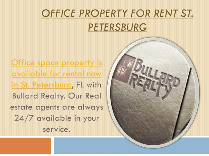 Office property for rent st petersburg