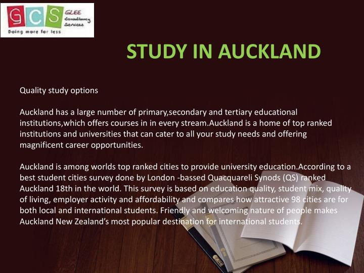 STUDY IN AUCKLAND